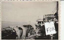 Singapour : Ville - 1947 - Vue Du Bateau - Ile De France ( Format 8,5cm X 5,7cm ) Photo Militaire - War, Military
