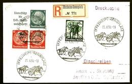 ALL-BL 7- LETTRE RECOMMANDÉE  REICH III POUR BEUTHEN- 4 TIMBRES  DU CARNET C485 + N°605-1938- - Allemagne