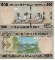 RWANDA New 500 &1000 Francs 2019     Pnew    UNC  ( 2 Notes ) - Ruanda
