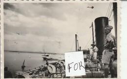 Singapour : Vue Du Port - 1947 - Prise Du Bateau - Ile De France ( Format 8,5cm X 5,7cm ) Photo Militaire - War, Military