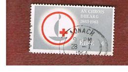 IRLANDA (IRELAND) -  SG 197   -    1963  RED CROSS    - USED - 1949-... Repubblica D'Irlanda