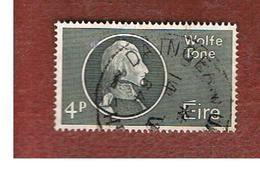 IRLANDA (IRELAND) -  SG 199   -    1964  T.W. TONE, REVOLUTIONARY  - USED - 1949-... Repubblica D'Irlanda
