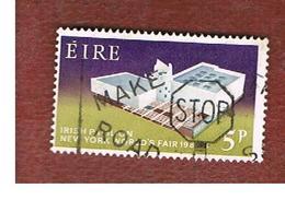 IRLANDA (IRELAND) -  SG 201   -    1964  NEW YORK WORLD' S FAIR  - USED - 1949-... Repubblica D'Irlanda