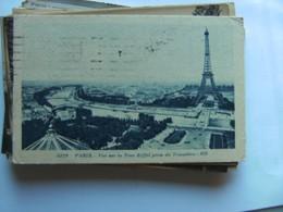 Frankrijk France Frankreich Parijs Paris Eiffel Tour Et Vue Panoramique Vieux - Eiffeltoren