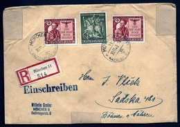 ALL-BL 8- LETTRE RECOMMANDÉE  REICH III- TIMBRE N° 782 X 2 +N° 779 + N°605-1938- - Allemagne