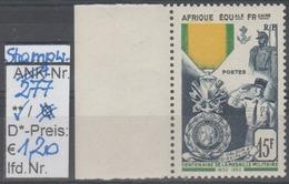 """1952 -  SM  """"Militär.Medaille - Afrique Equatoriale Francaise"""" -  ** Postfrisch M.  Allonge - S. Scan (stampworld 277) - A.E.F. (1936-1958)"""