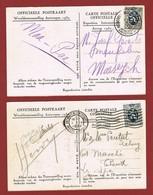 Wereldtentoonstelling Antwerpen 1930: 2 Verschillende Expo Stempels Op 2 Expo Kaarten - Universal Expositions