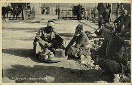 Lebanon, BEIRUT BEYROUTH, Egg Seller, Street Merchant (1910s) Terzis Postcard - Libanon