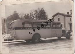 PHOTO ANCIENNE - AUTOCAR  TYPE A IDENTIFIER - 38 - TULLINS - MOIRANS - VOREPPE - GRENOBLE - GARAGE PRESTRAIL - Cars