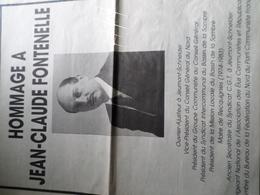 1988 HOMMAGE A JEAN - CLAUDE FONTENELLE MAIRE DE RECQUIGNIES (NORD) - Old Paper