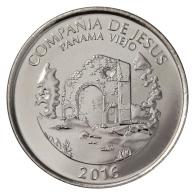 PANAMA MEDIO 1/2 BALBOA 50 Cents PANAMA CHURCH OF SOCIETY OF JESUS 2016 UNC - Panama