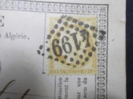 Marcophilie  Cachet Lettre Obliteration - Timbre N°55 - GC 4199 - 1875 (2255) - 1849-1876: Classic Period
