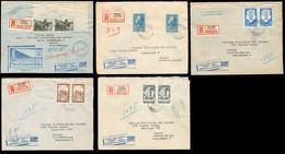 FINLAND. 1952-4. 5 Reg Fkd Envs To SPAIN. - Finland