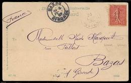 HONG KONG. 1906. HK - France. PPC / French Stamp / Cancelled Ligne N/nº5. Octagonal Paquebot. - Hong Kong (1997-...)
