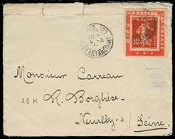 FRANCE. 1911. Paris - Neuilly. Tie - Advertising Fkd Env. - Frankreich