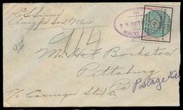 MEXICO. 1918. Naco - USA. Sonora Green Seal Fkd Env Taxed. - México