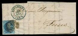 BELGIUM. 1855 (22 Sept). Bruxelles - Fosses. EL / 20c Full Large Margins, Tied. Item De Luxe. - Non Classés