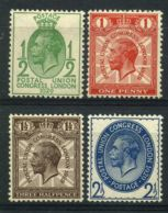 GRANDE-BRETAGNE ( POSTE ) : Y&T N°  179/182  TIMBRES  NEUFS  AVEC  TRACE  DE  CHARNIERE . - 1902-1951 (Kings)