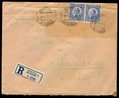 SERBIA. 1919 (5 Sept). Belgrade - MALTA. Registr Fkd Env. Via Triest + Arrival Ds + Oval 34. - Serbia