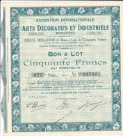 Alb 2Exposition Internationale Arts Décoratifs1925N=11 A - Actions & Titres