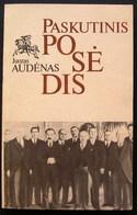 Lithuanian Book / Paskutinis Posėdis By J. Audėnas 1989 - Bücher, Zeitschriften, Comics