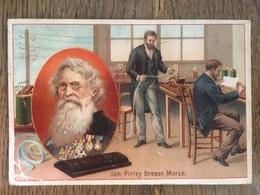 CHROMO CHOCOLAT SUCHARD S54 1897 Famous Inventors Inventeurs Célèbres Sam Finley Breese Morse Télégraphe - Suchard