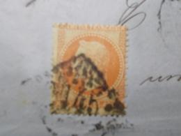 Marcophilie  Cachet Lettre Obliteration - Timbre N°31 - GC 2145 - 1860 (2257) - Marcophilie (Lettres)