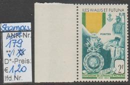 """1952 -  SM  """"Franz. Militär.Medaille - Iles Wallis Et Futuna"""" -  ** Postfrisch Mit Allonge - Siehe Scan (stampworld 179) - Ungebraucht"""