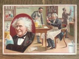 CHROMO CHOCOLAT SUCHARD S54 1897 Famous Inventors Inventeurs Célèbres Eugène Chevreuil Chimie Savon Couleurs - Suchard