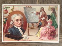 CHROMO CHOCOLAT SUCHARD S54 1897 Famous Inventors Inventeurs Célèbres Isaac Newton Physique Astronomie - Suchard