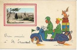 17 Saint Sauvant 2 Cartes Postales Humoristique - Altri Comuni