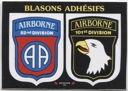 CPM - BLASON ADHESIF - AIRBORNE 82nd Et 101st Division - Edition Vacances - Autres