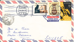 Egypt Air Mail Cover Sent To Switzerland Port Said 24-3-1964 - Airmail