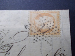 Marcophilie  Cachet Lettre Obliteration - Timbre N°38 - Etoile 17 - 1872 (2260) - Postmark Collection (Covers)