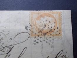 Marcophilie  Cachet Lettre Obliteration - Timbre N°38 - Etoile 17 - 1872 (2260) - 1849-1876: Classic Period