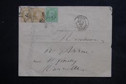 FRANCE - Enveloppe De Paris En 1871 Pour Marseille , Affranchissement Napoléon Lauré Et Non Lauré - L 24044 - Postmark Collection (Covers)