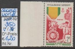 """1952 - SM  """"Franz. Militär.Medaille - Nue Caledonie Et Depend.""""  - ** Postfrisch M. Allonge - S. Scan  (stampworld 350) - Ungebraucht"""
