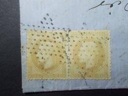 Marcophilie  Cachet Lettre Obliteration - Timbres Paire N°28 - Etoile Vide - 1869 (2261) - 1849-1876: Classic Period