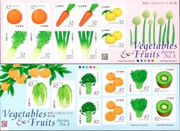 Japon Nippon 2015 7349/58 Fruits Et Légumes - Légumes