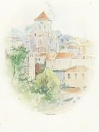 I7 Saint Sauvant 1 Carte Postal Aquarelle De Claude Veyssierre - Altri Comuni