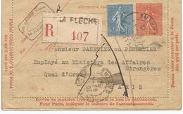 Lettre Envoyée Au Ministère Des Affaires étrangères Et Retournée - Marcophilie (Lettres)