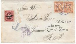 "Env. Canal De Panama 1927 - Taxe ""Canal Zone"" - Panama"