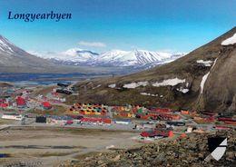 1 AK Svalbard Zu Norwegen * Blick Auf Longyearbyen - Hauptort Der Insel Spitzbergen – Luftbildaufnahme * - Norwegen