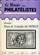 Le Monde Des Philatelistes N.327,Empire Faux De Monaco,poste Maritime Franco-coloniale, Marianne Béquet,Sabine Varieté - Revistas