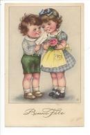 21521- Bonne Fête Couple Enfants Rose à La Main HWB 6444 - Fêtes - Voeux