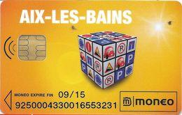 CARTE A PUCE CHIP CARD MONEO AIX-LES-BAINS 73 SAVOIE STATIONNEMENT TRACES USAGE MAIS TTB - France