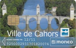 CARTE A PUCE CHIP CARD MONEO STATIONNEMENT CAHORS 46 LOT  LUXE - Frankrijk