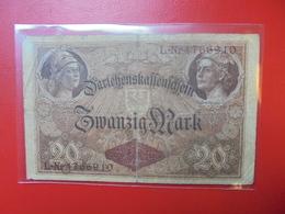 Darlehnskassenschein :20 MARK 1914 - [ 2] 1871-1918 : German Empire
