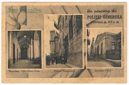 B3262- Palermo, Polizzi Generosa Un Pensiero, Viaggiata 1947, Piega In Alto A Destra - Palermo