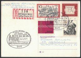 YN39   Germany Registered Cover 1971 Eitelborn,Westrwaldtag Pfingsten + Sonderstempel - [7] Repubblica Federale